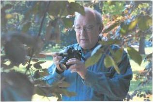 Dan Weinbach working on photos for Trees4Seasons